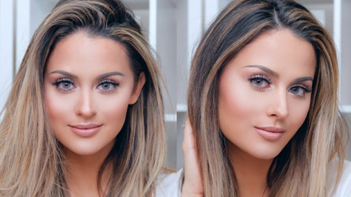 perfektes make up makeup tipps blonde haare große grüne augen augenfarbe bedeutung lippen