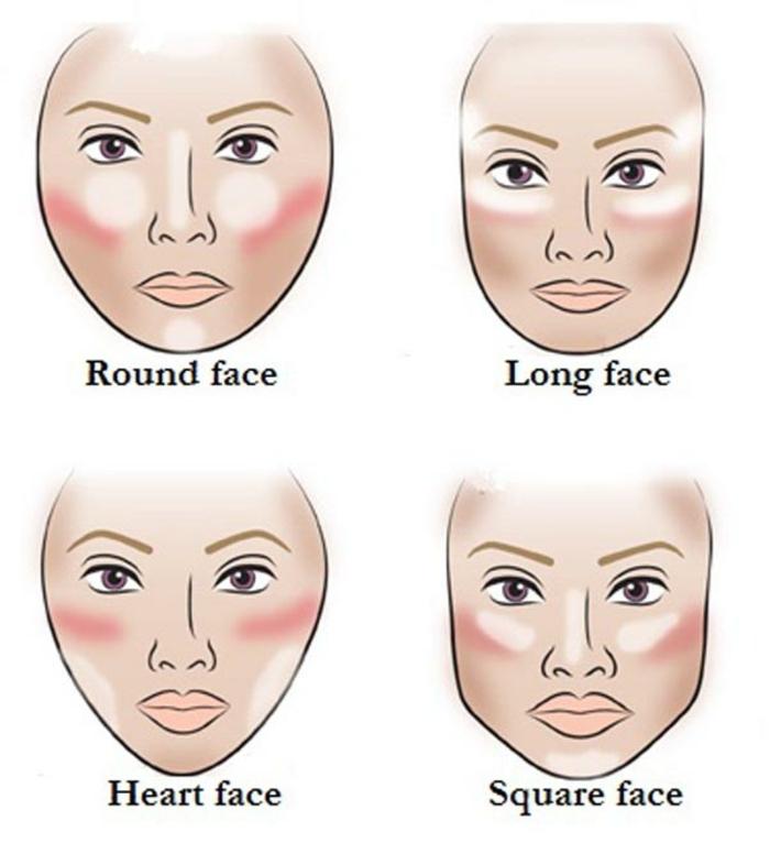 augen make up gesicht schminken nach form des gesichts concealer rouge und highlighter eintragen