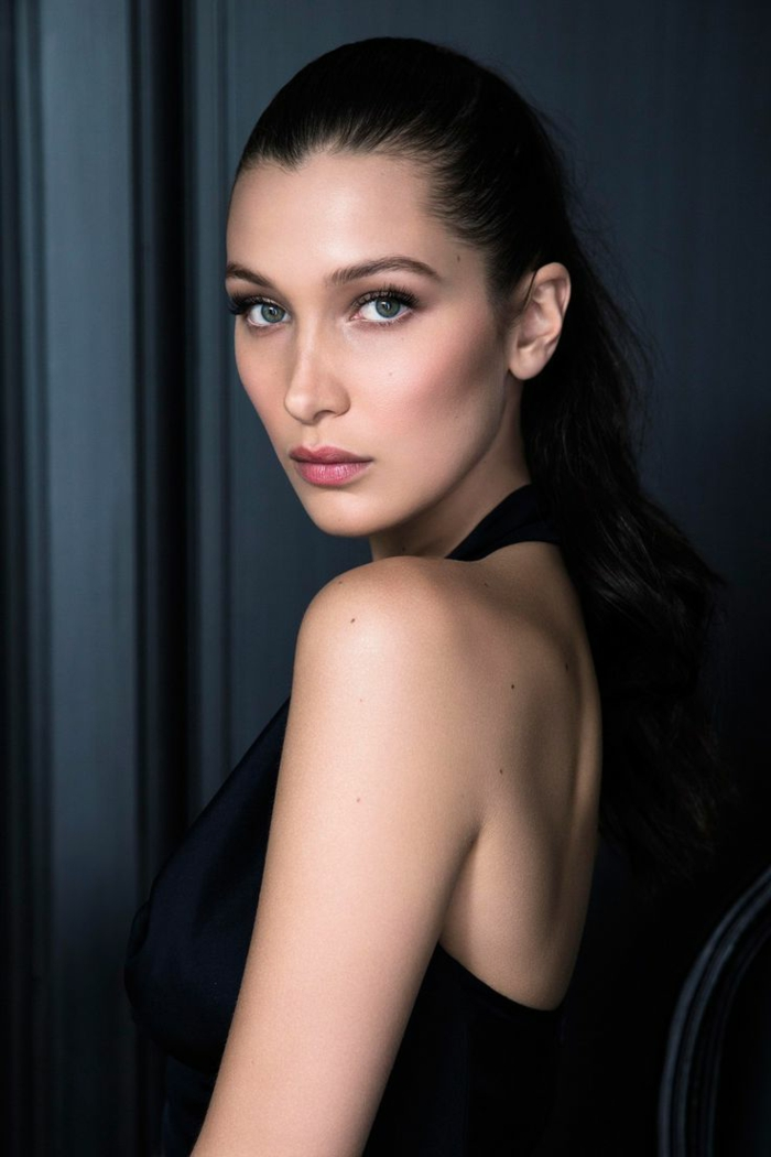 bella hadid model posiert für fotos natürliches make up schön elegant und attraktiv hübsche frauen