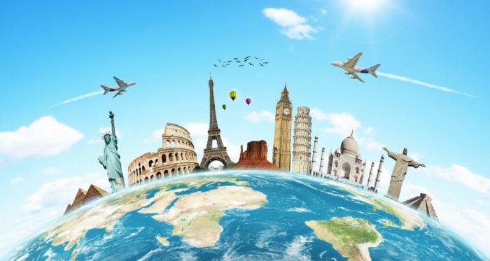 Ortsunabhängige Arbeit, digitale Nomaden, Erde, Urlaub