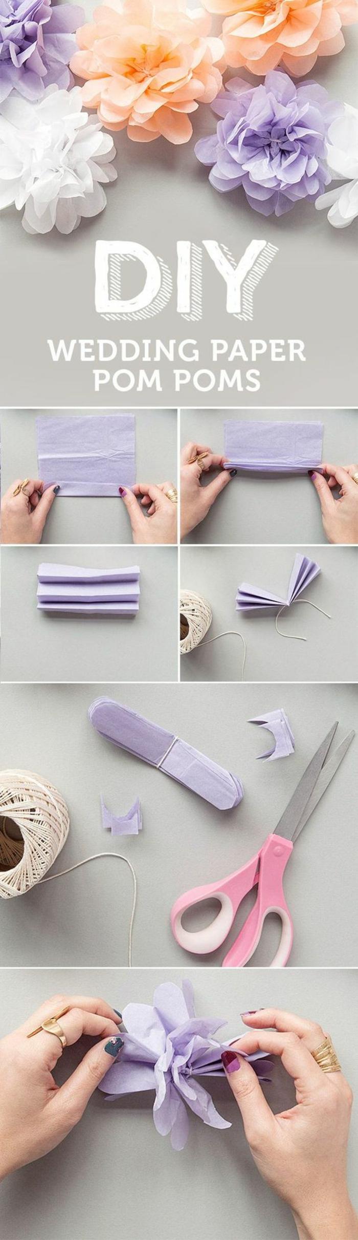 papierblumen basteln, blumen aus servietten selber machen