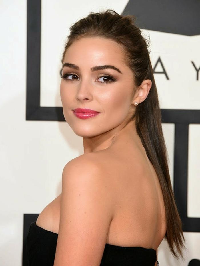 make up tipps um einen look wie hollywoodstar zu erreichen volle rosa lippen große augen schminken