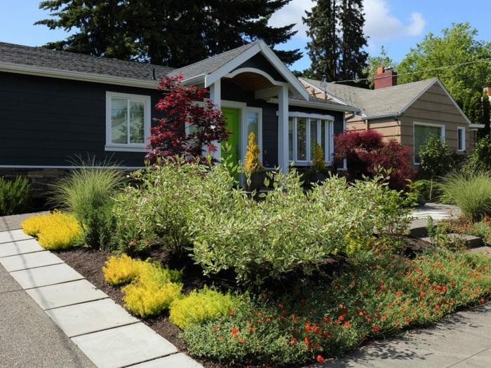 bildschöne Vorgartengestaltung Beispiele - Beete, Blumen, Zierstrauchen