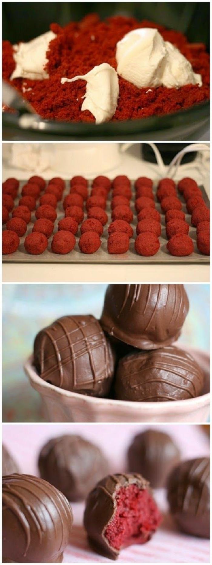 cake pops - roser teig, glasur aus schokolade