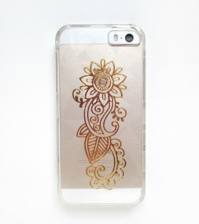 tattoo motive frau goldene dekoelemente auf dem handy aufkleben tattoo für das mobiltelefon