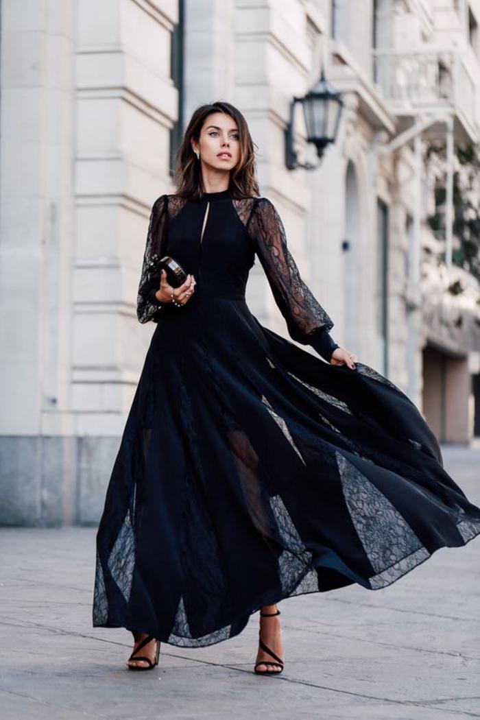 Ein Paar Tolle Ideen Wie Sie Ein Schwarzes Kleid Kombinieren