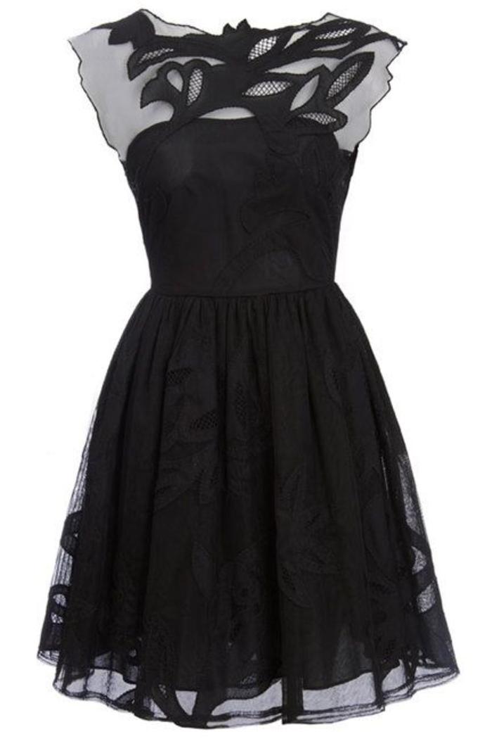 ein paar tolle ideen wie sie ein schwarzes kleid kombinieren. Black Bedroom Furniture Sets. Home Design Ideas