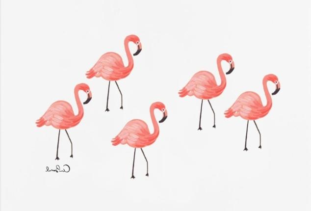 tattoo muster die bunten flamingos sind fertig auf ihren körper zu landen bunte tattoos künstlich