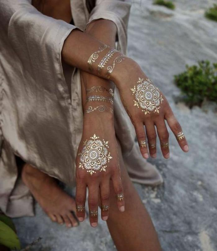 155 inspirierende tattoo ideen temporre krperverzierung fr den sommer - Henna Muster Fur Anfanger