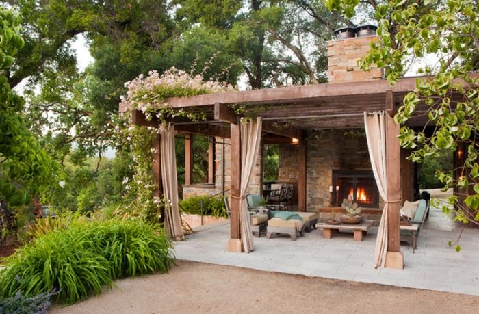 terrassengestaltung ideen bilder einmalige terrasse wo man romantische momente genießen kann