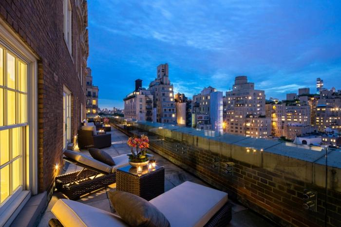 terrassengestaltung ideen bilder terrasse in der stadt selber einrichten und dekorieren blumen licht
