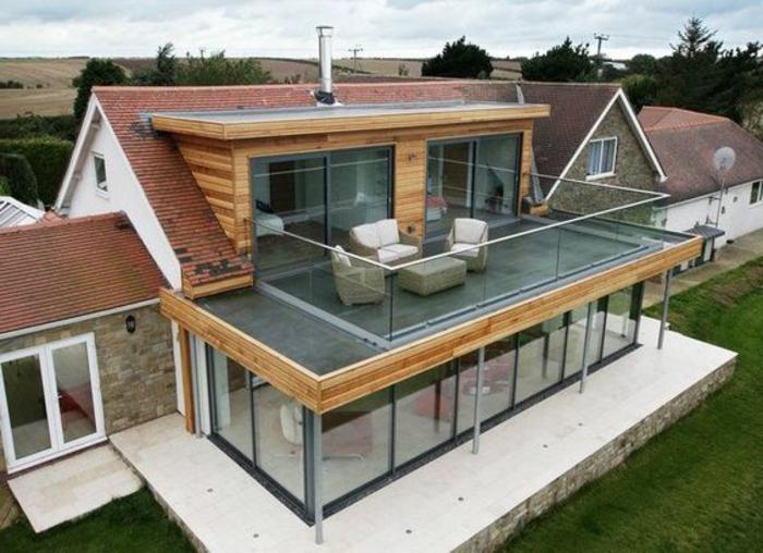 dekoideen terrasse luxusvilla luxus luxuriöses haus mit großer terrasse wohnzimmer ideen sofa sessel