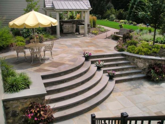 dekoideen terrasse luxusvilla mit terrasse urlaubidee schöne atmosphäre gemütliches flair ferien