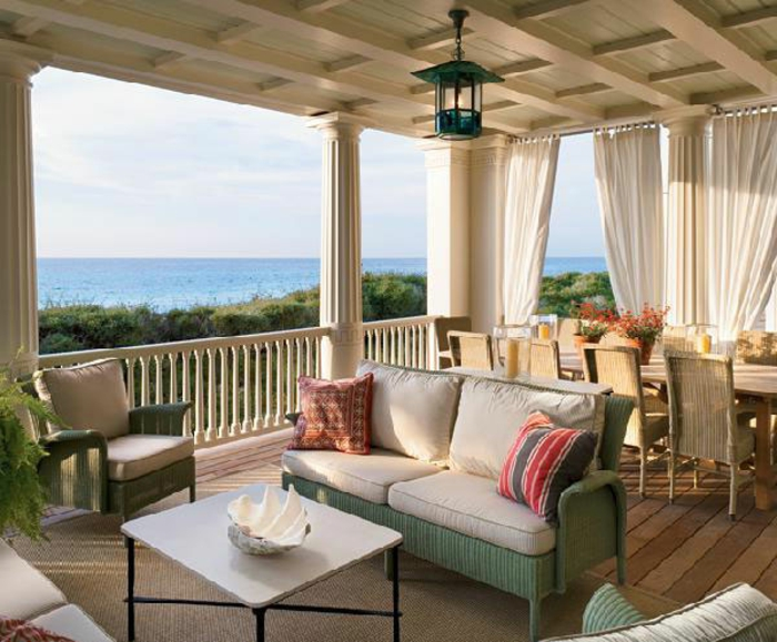 terrassengestaltung ideen bilder haus mit terrasse in der nähe von dem meer schöne möblierung