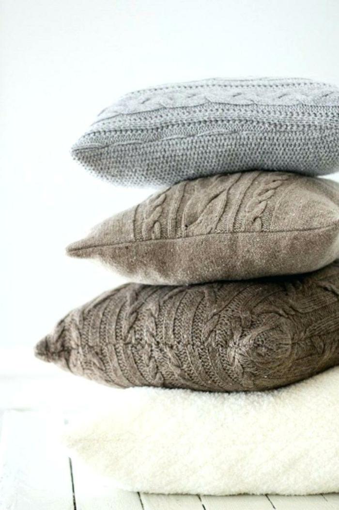 aus alte Pullover aus Wolle neuer Kissenbezug in verschiedene Farben , Upcycling Kleidung, kreative Ideen