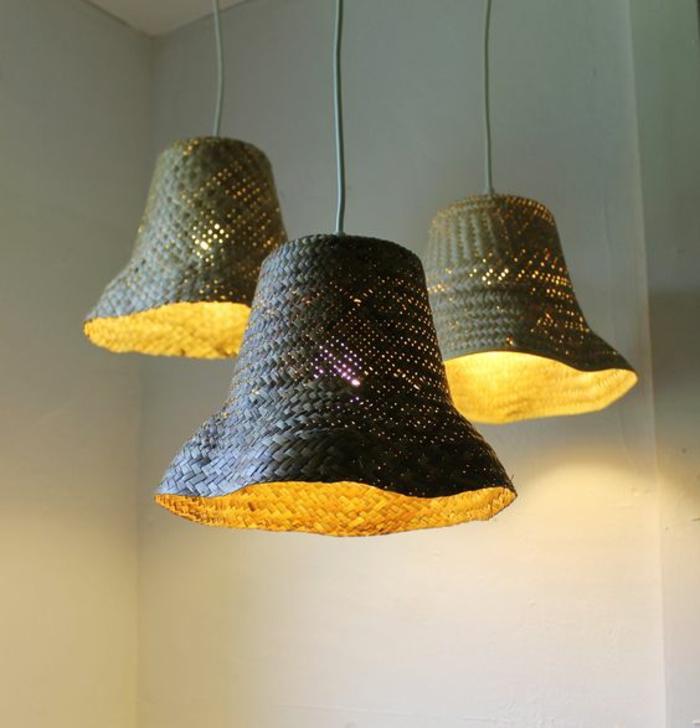 upcycling ideen zum selbermachen diy lampenschirme aus alten geflochtenen ma 1 4 tzen im garten 40 nutzliche
