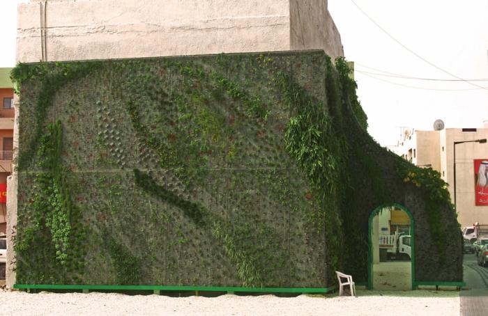 auch die alte Wand ist mit einem vertikal Garten zu verschönern