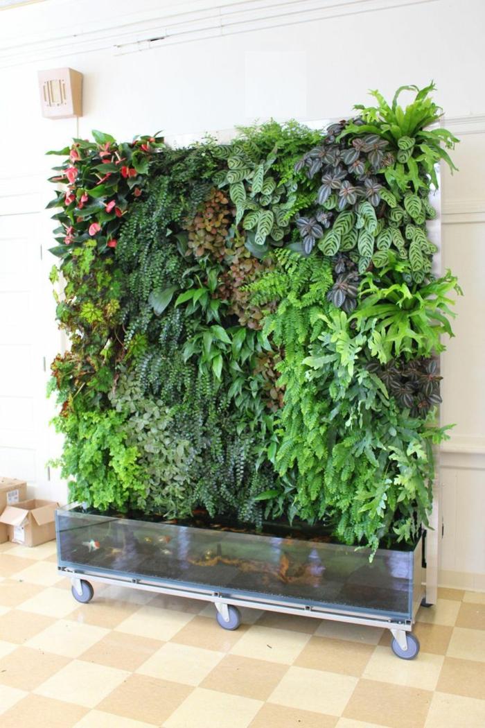 ein mobiler vertikal Garten, wenn Sie viel umziehen müssen