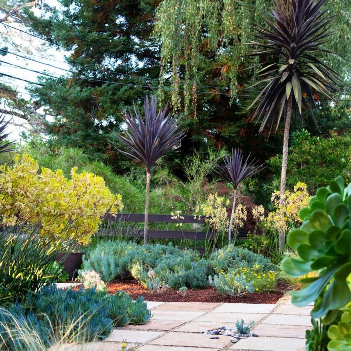 Vorgarten Gestalten Wie Ein Dschungel Mit Viele Exotische Pflanzen