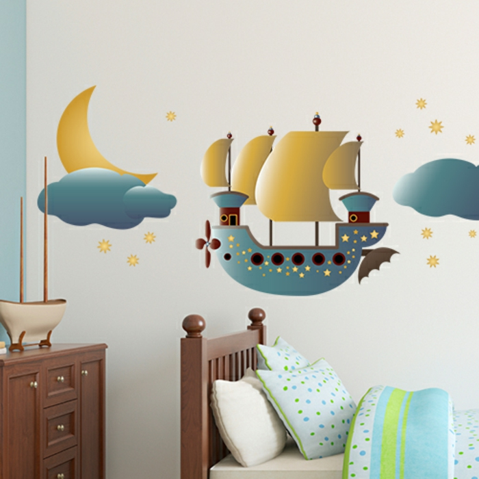 Creative wall motifs for a happy and imaginative childhood