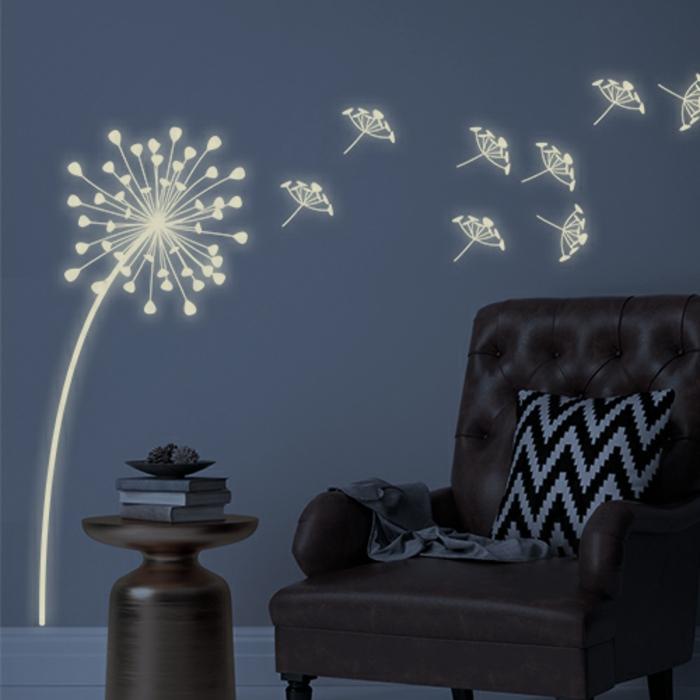 wanddeko wandmotive leuchtende wandsticker nachts im kinderzimmer ruhiger schlaf
