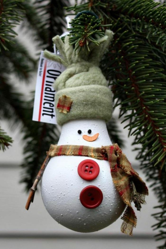 tannenbaum, weihnachtsdeko, schneeman, rote knöpfe, grüne mütze
