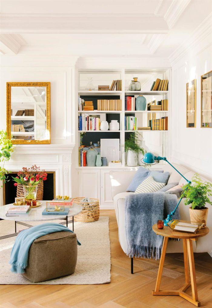schöne wohnzimmer deko ideen, dezentes design in hellen farben und bunte deko