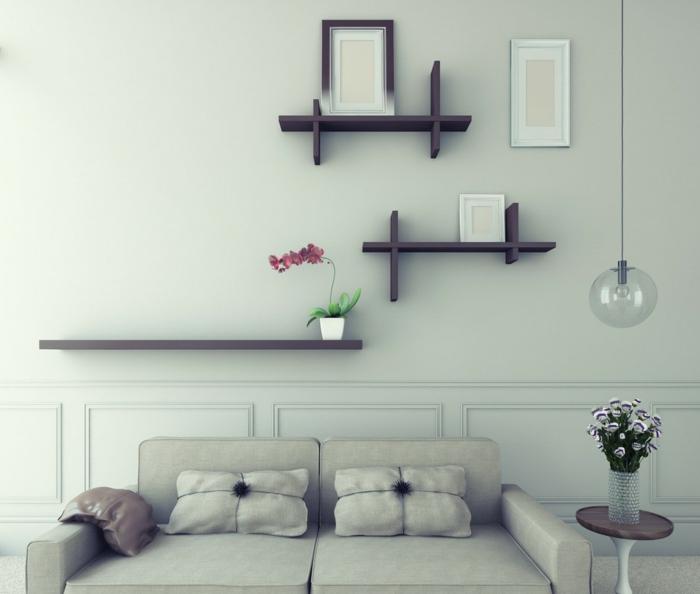 Wanddeko Wohnzimmer Verschieden Modelle Von Dekorativen Wandregalen Aus Holz