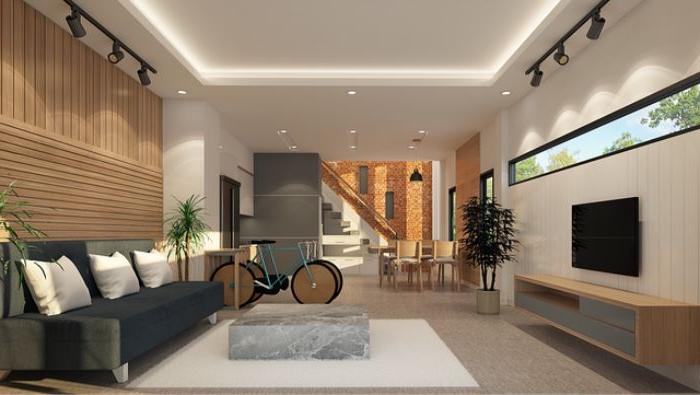 deko für wohnzimmer, ein fahrrad funktionell die dekorationen nutzen, schöne ideen