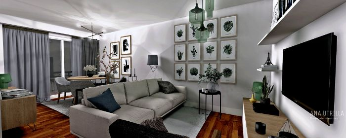 deko für wohnzimmer, graues zimmer, schöne wanddeko gestaltung ideen wandbild