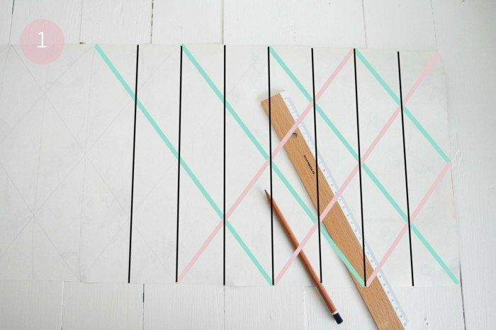 Lampenschirme selber machen: Origami-Falttechnik für DIY Lampenschirme aus Bastelpapier
