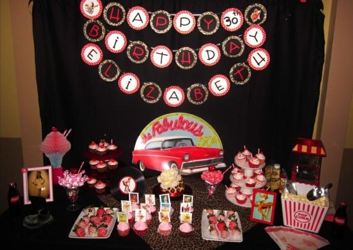 Herzlichen Glückwunsch zum Geburtstag in retro Stil - 50er Jahre Party