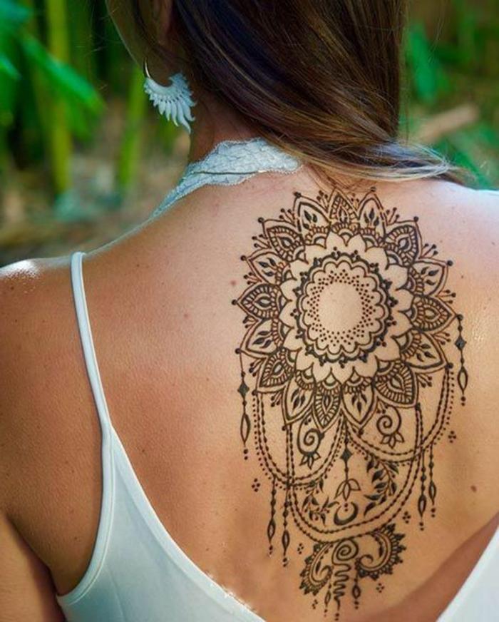 Henna Tattoo Uralte Kunst Zur Temporaren Hautverzierung Mit