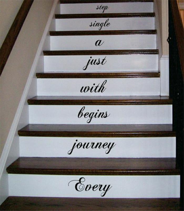 personalisiertes DIY-Projekt Treppenaufgang gestalten