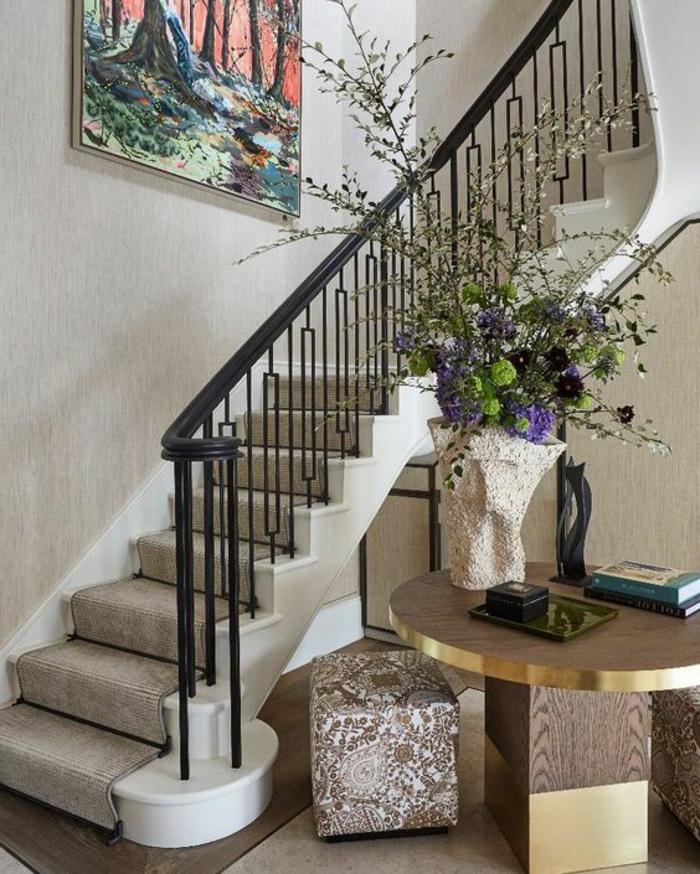 Treppenaufgang gestalten schöne Wohnideen