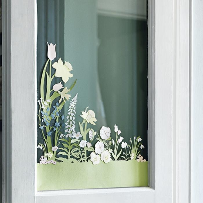 Fensterbilder basteln aus Tonpapier Fensterdeko Ostern