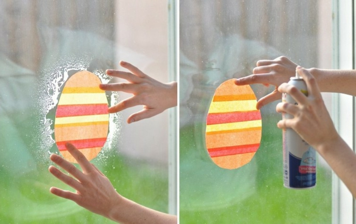 Fensterdeko Ostern Fensterbilder selbst gestalten