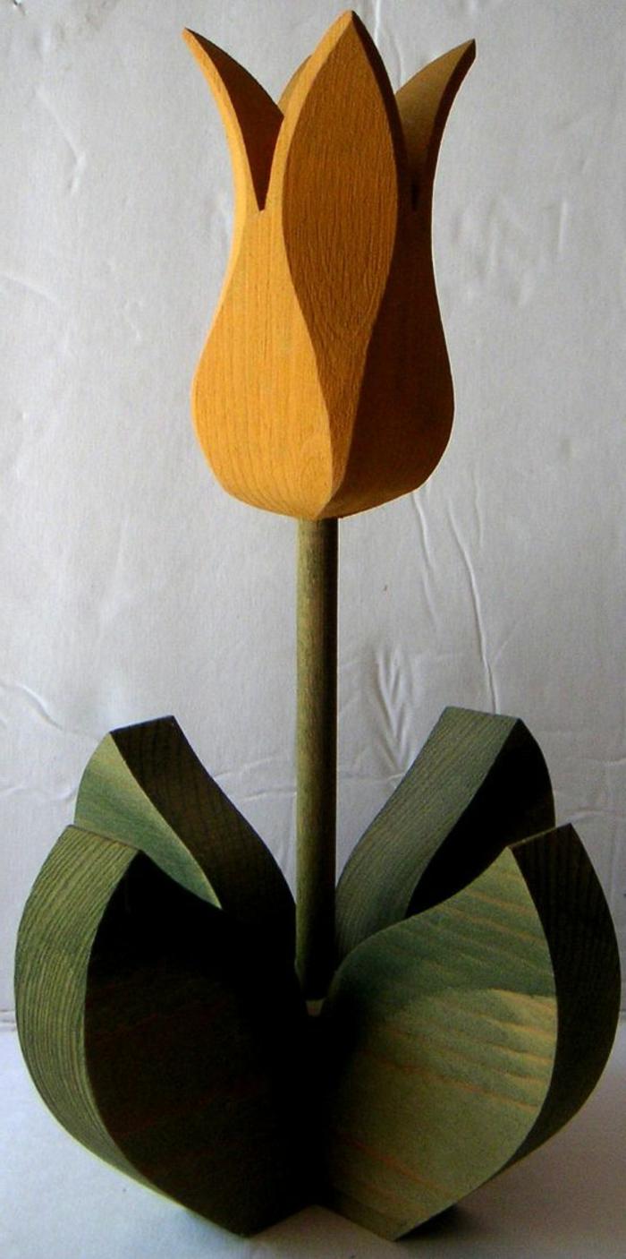Blumenschmuck aus Holz Tulpe Holzfiguren zum Ostern oder Frühling