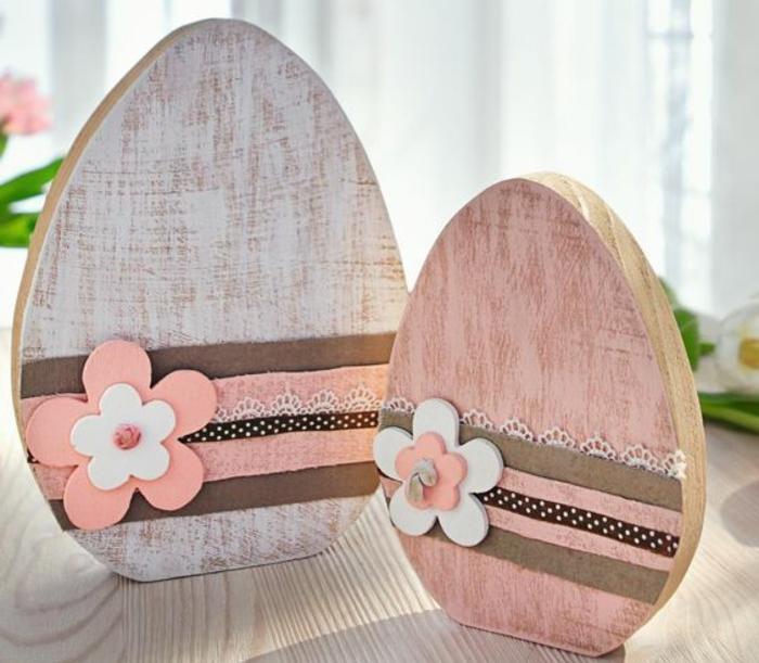 Ostereier aus Holz Osterschmuck mit schöner Verzierung