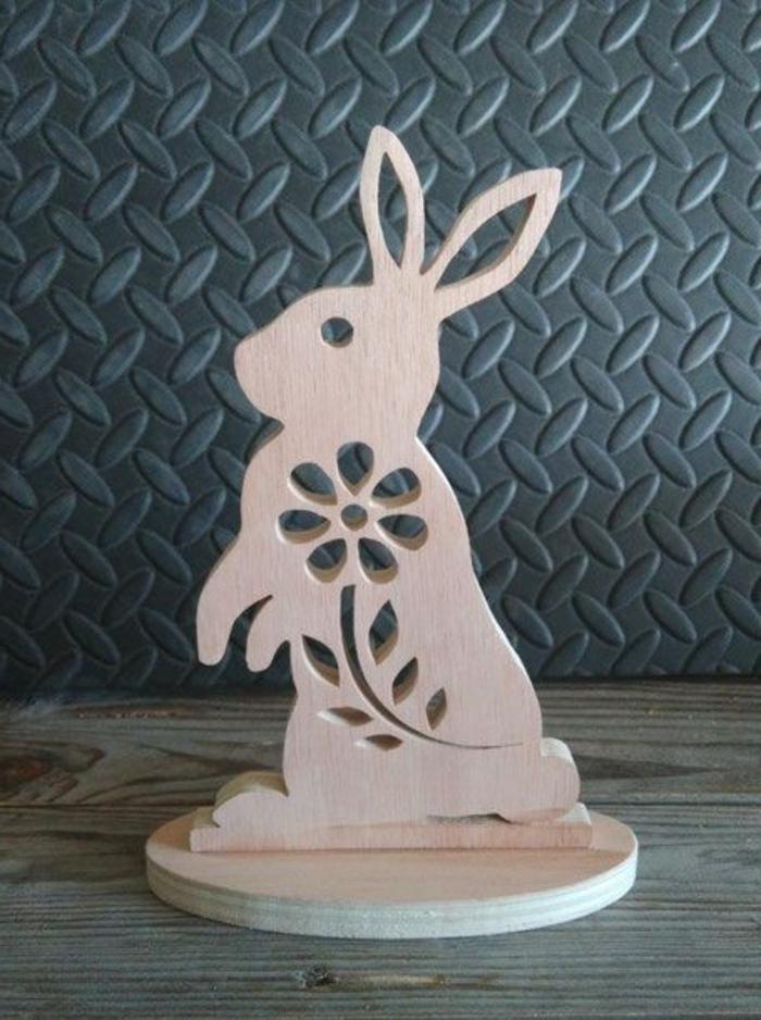 Dekoobjekte Ostern Osterhase aus Holz
