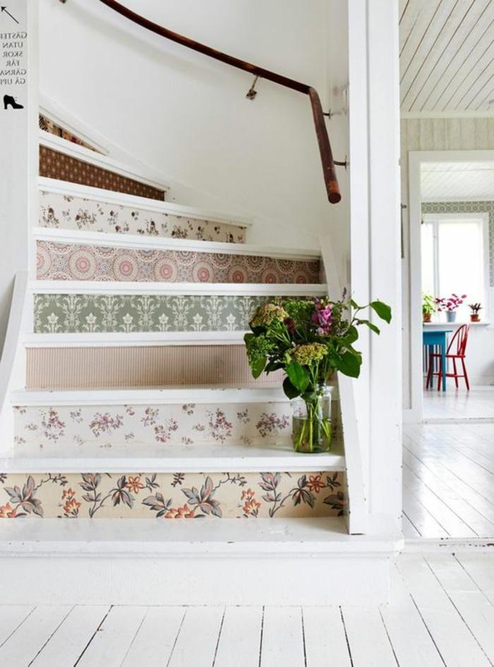 Treppen gestalten hübsch und heimelige Wirkung erzeugen