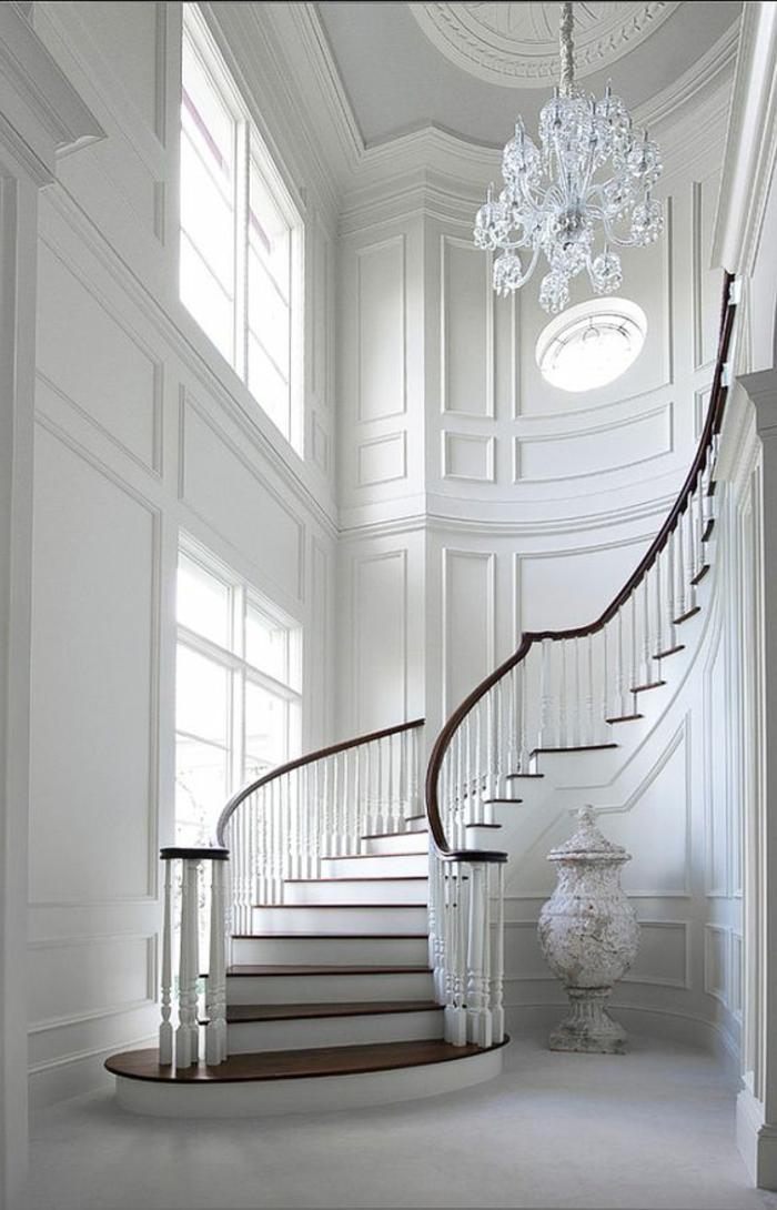klassisch schlicht Treppe in Landhaus Stil