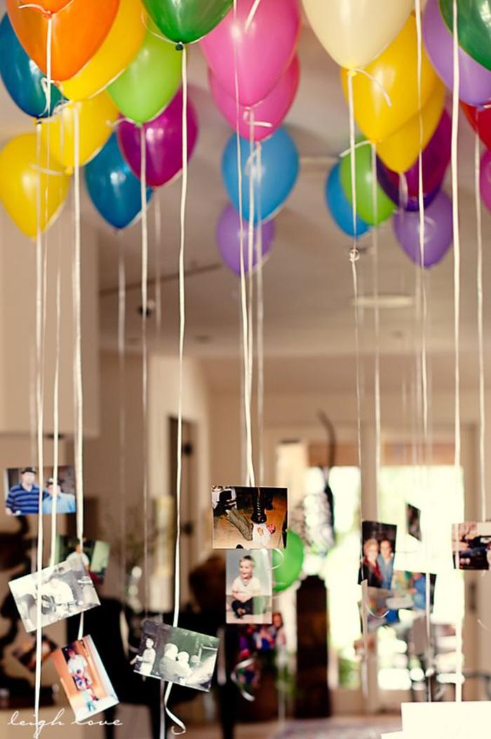 abschiedsparty fuer kollegen, ueberraschung mit ballons und fotos, verabschiedung
