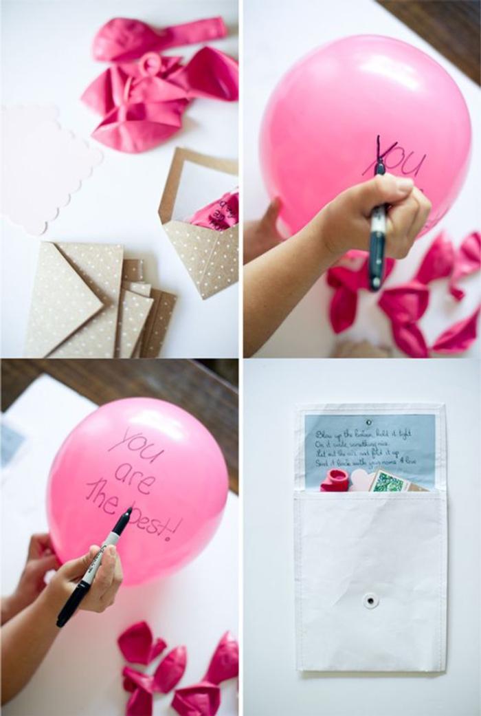 abschiedsparty organisieren, ballons mit botschaft, du bist der beste