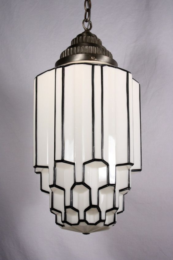 art deco lampe, antiquitaet, weiss, antike deko artikel
