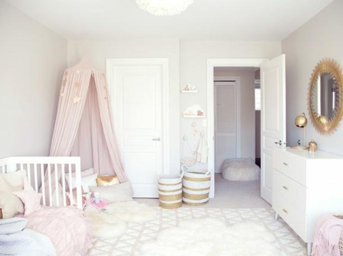 babyzimmer mädchen dezentes einfaches design in weißer farbe interieur design babyzimmer kinderzimmer