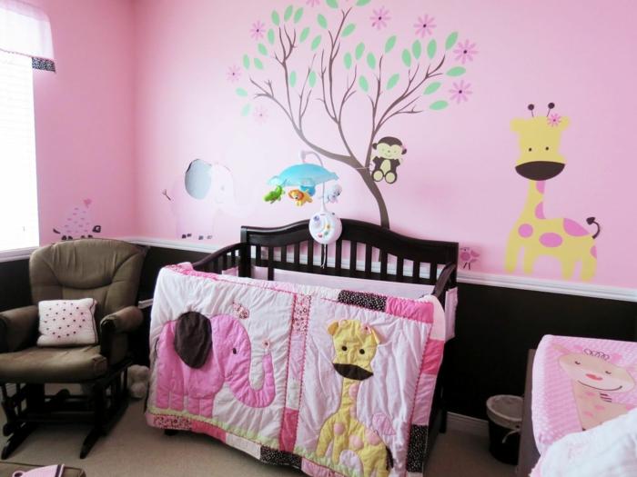 Babyzimmer gestalten wände rosa  ▷ 1001+ Ideen für Babyzimmer Mädchen