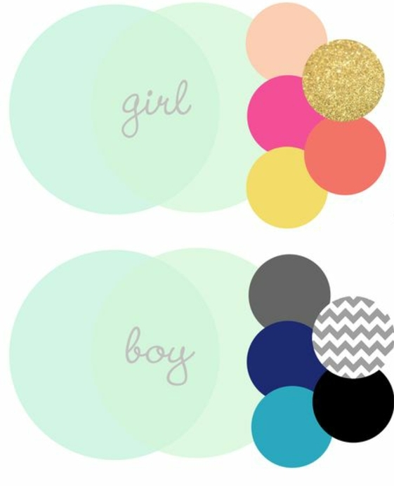 kinderzimmer dekoration typische farben für junge oder mädchen blau schwarz weiß golden orange rosa