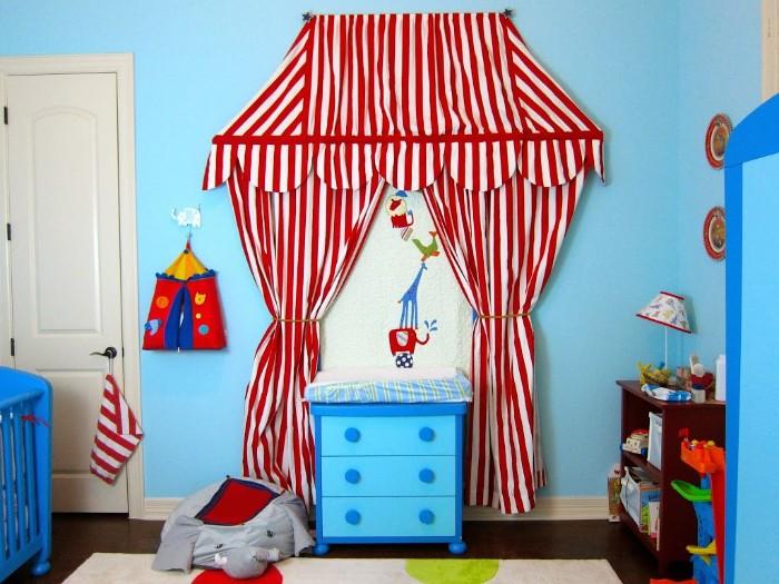 babyzimmer set für die beiden geschlechter, lustiges design im kinderzimmer, zirkus thema