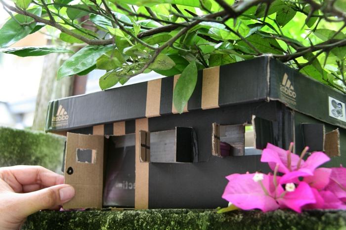 1001 bastelideen mit schuhkarton zum entnehmen. Black Bedroom Furniture Sets. Home Design Ideas